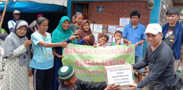 Our Donations for Tsunami Victims arrived in Banten